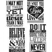 Stampers Anonymous/Tim Holtz - Cling Mount Stamp Set - Motivation 3 - CMS291